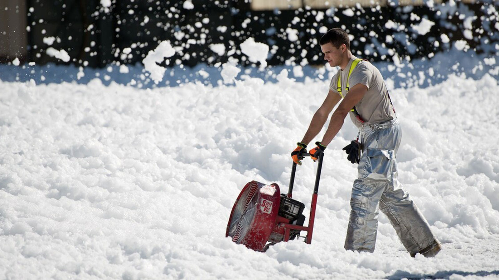 <h4>It's in firefighting foam</h4><h5>Firefighting foam used on U.S. military bases is a major source of PFAS — and nearly 300 military bases have known contamination.</h5><em>Ken Wright/Air Force</em>